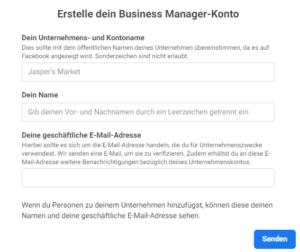Facebook Business Manager Konto Erstellen