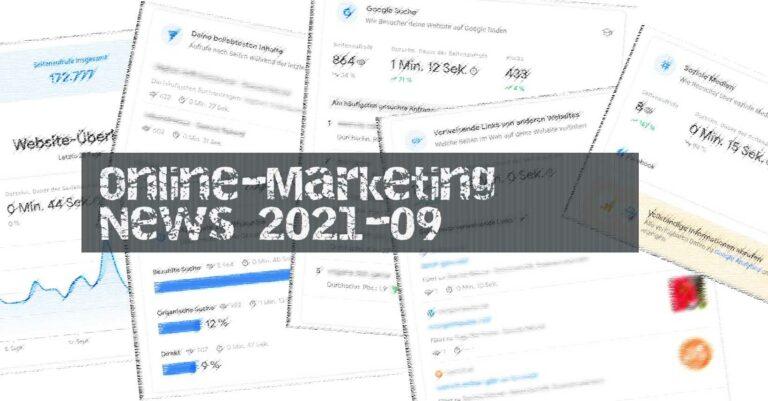 Online-Marketing News 2021-09